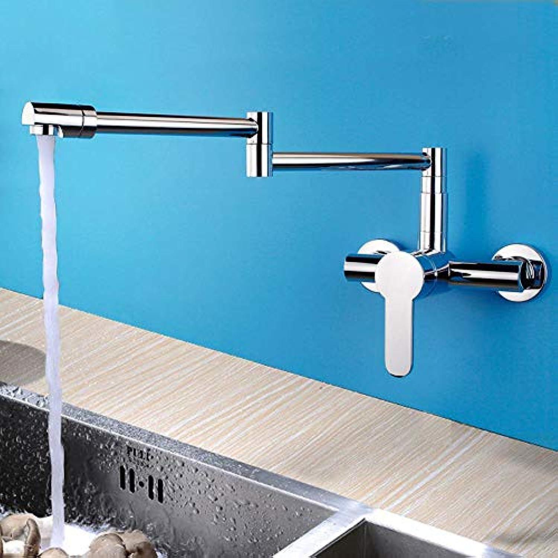 Lnyy Alle Kupfer-Küche Wasserhahn warmes und kaltes Einhebel Doppelsteuerung klappbaren Wasserhahn waschen Gemüse Becken spültischarmatur