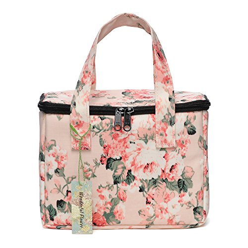 WONDERFUL FLOWER Lunch Box Cooler Bag lunch bag flower (19 Light Pink)