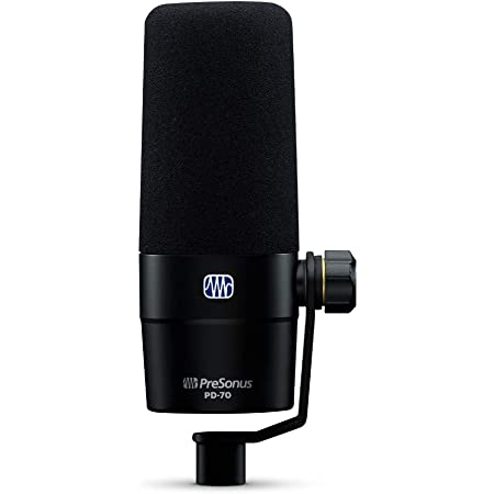 PreSonus, 1 PD-70 Dynamic Vocal Microphone for Broadcast, Podcasting, and Live Streaming, XLR
