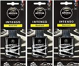 Aroma Intenso Gel Car Perfume Long Lasting Car & Home Hanging Air Freshener, Black Jack (Pack of 3) …