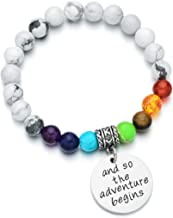 Pdouself Inspiration 7 Chakra Bracelet for Girls and Though she be but Little she is Fierce Career Gift for her
