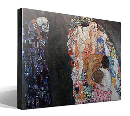 Cuadro Canvas La Muerte y la Vida de Gustav Klimt