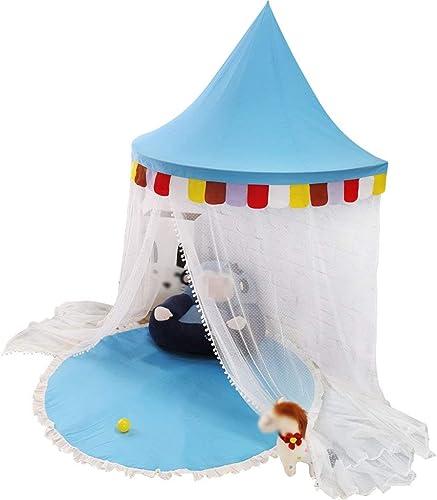 Ente d'enfant, Maison de Jeu intérieure Chambre à Coucher de Bébé Demi Mois Coin de Lecture Jouet Lit moustiquaires Envoyer des moustiquaires 110-150 CM,bleu,120cm
