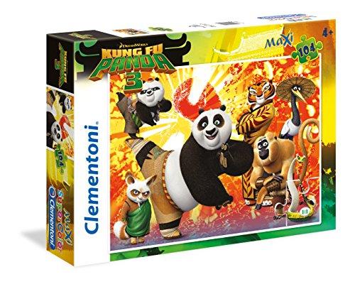 Clementoni- Kung Fu Panda 3 Supercolor Puzzle Maxi, 104 Pezzi, 27959
