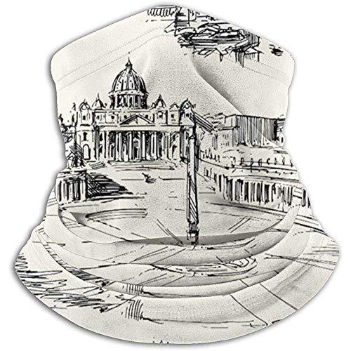 Merle House Travel The World Temi storici italiani Venezia Roma Firenze Pisa Unisex Inverno Scaldacollo Ghette Fas
