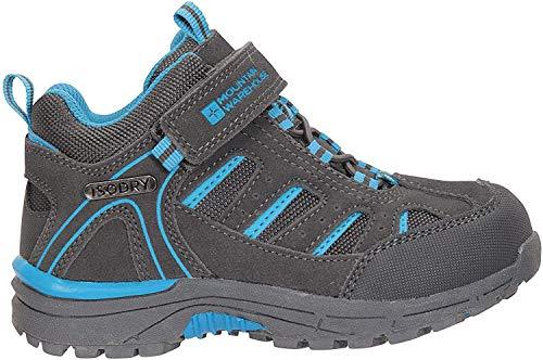 Mountain Warehouse Dirft Cargadores Menores de los Cabritos de la Deriva - Botas de Lluvia Impermeables, Zapatos para Caminar duraderos, Botas de Senderismo para niños Gris 23