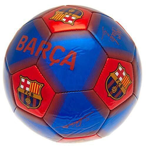 Barcelona FC Signature Soccer Ball (One Size) (Sky Blue/Red)