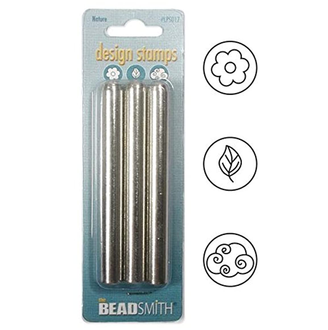 BeadSmith XTL-0762 3 Piece 'Nature' Punch Stamp Set, 5mm/3/16