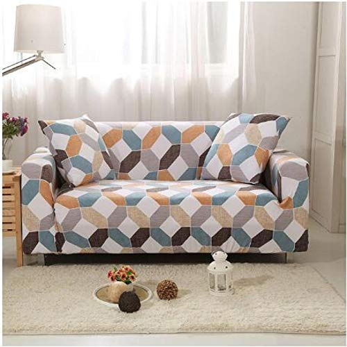 NOBCE Funda de sofá en Forma de L Funda de sofá de Esquina de Color sólido para Sala de Estar Fundas de Licra elásticas Toalla de sofá elástica 235-300CM