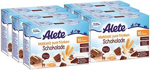 Alete Mahlzeit zum Trinken Schokolade, 6er Pack (6 x 400 ml)