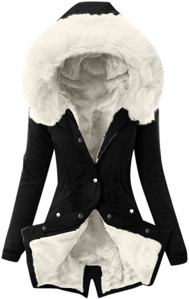 Long Wool Coat With Hood Ladies Lining Coat Womens Winter Warm Thick Windbreaker Jacket Hooded Overcoat Outerwear Tops