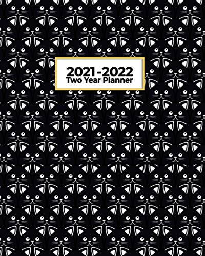 2021-2022 Two Year Planner: Black Cat Army | Perfect for the...