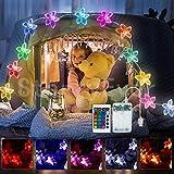 40 LED Batteriebetrieben Rosa Blume Lichterketten mit Fernbedienung, 4 Modi Bunt Lichter für kinderzimmer Hochzeit Geburtstag Innen Draussen Deko Geschenk für Freundin Valentinstag Dekor