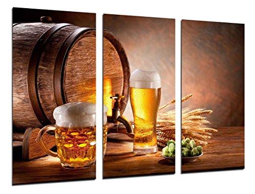 Quadro su Legno, Birrificio, Birra bionda e Pane tostato, 97 x 62cm, Stampa in qualita Fotografica. Ref. 26470