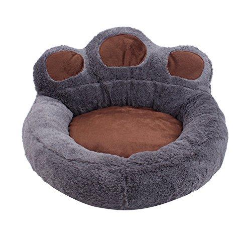 Lazzykit Sommer Hundebett in und Outdoor Hundekissen Bärentatze Form Haustier Katze Hundesofa Hundekörbchen Hundekorb XS S L XL