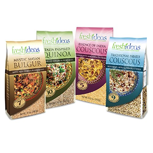 Fresh Ideas Quick Cook Meals-Traditional Israeli Couscous, Fresh Ideas- Mystic Mayan Bulgur, Fresh Ideas- Essence of India, Fresh Ideas- A Taste of Italia