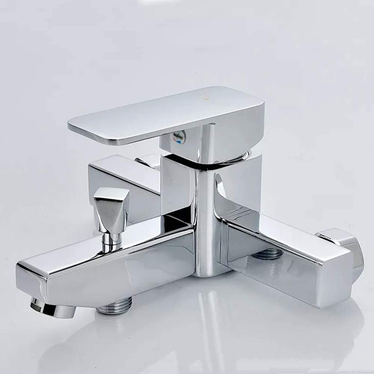 Triple Shower Faucet Wall-Mounted Hot and Cold Mixing Valve Bathroom Shower Faucet Bathtub Faucet