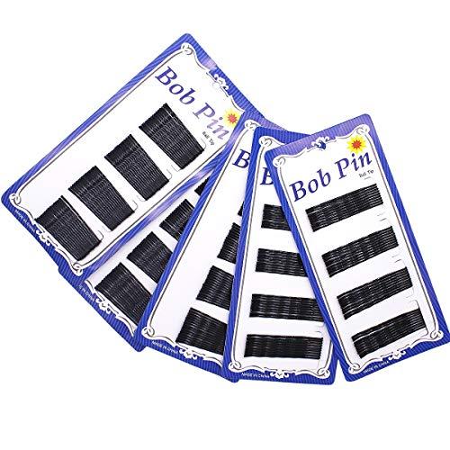 Dokpav 250 Piezas de Clips de Pelo y Pasador de Pelo Negro, 180 pcs 1.77 inch y 70 pcs inch