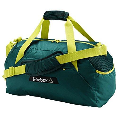 Reebok OS W Grip Fitness & Training Duffle Sport Bag in Teal Green Yellow