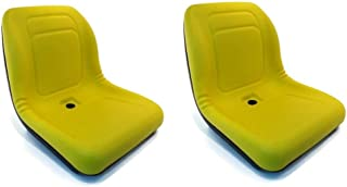 Yellow HIGH BACK SEAT with ARM RESTS for John Deere LVA10029 AM129969 AM129970