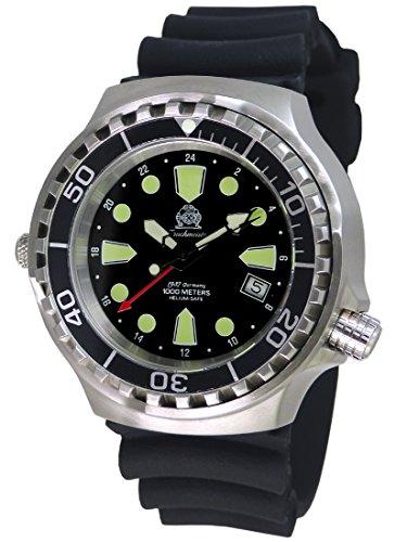 Tauchmeister Uhr mit Swiss Ronda 24 Std. GMT Werk Saphir Glas T0299