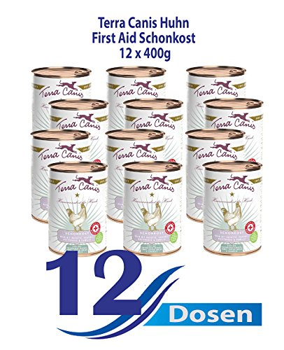 Terra Canis Dog Dose First Aid Schonkost Huhn & Karotten, 12er Pack (12 x 400 g)