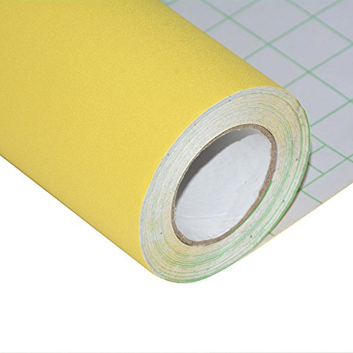 "Peel and Stick Yellow Wallpaper Contact Paper 24"" by 393"" (Yellow)"