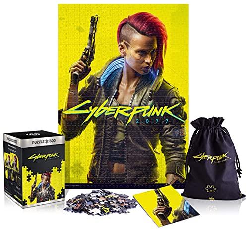 Good Loot Cyberpunk 2077 Female V - Puzzle 500 éléments 34cm x 48cm | Poster et Sac Compris | Jeu vidéo | Puzzle pour Adultes et Adolescents