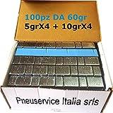 Barrette di Contrappesi adesivi per equilibratura cerchi in lega auto e moto (100) MADE IN ITALY