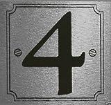 eCobbler Silver Stick On Door Numbers 0 To 9 - Number 4