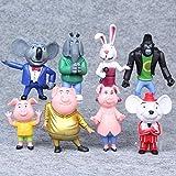 qwermz Modelo De Anime, 8 Unids/Set Película De Dibujos Animados...