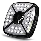 CREATIVE DESIGN Patio Umbrella Lights, 32 LED Umbrella Lights 2 Modes Rechargeable Patio Light for Patio Umbrella Camping Tents and Other Outdoor Use