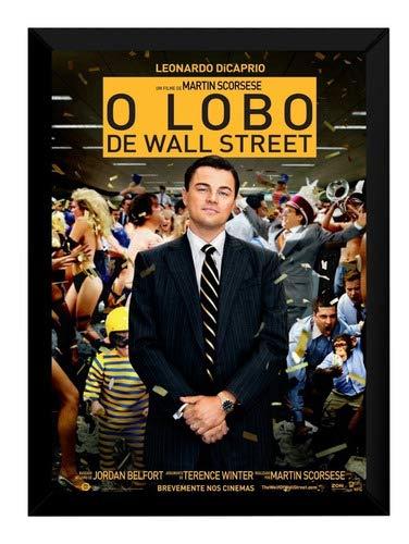 Quadro Lobo De Wall Street Leonardo Dicaprio Moldurado