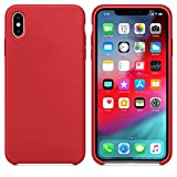 AW 2019 Estate Ultima Custodia in Silicone per iPhoneXS 5.8'' (iPhone XS, Rosso)