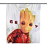 Elbenwald Guardians of The Galaxy Duschvorhang Groot Wand Banner 180x200cm Vol. 2 Marvel