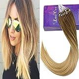 LaaVoo 18' Extensions de Cheveux Humains de Perles Droites Balayage Couleur Brun...