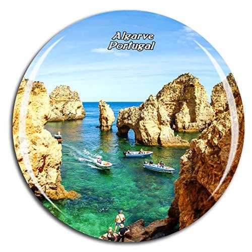 Weekino Portugal Lagos Costa Algarve Imán de Nevera 3D de Cristal de la Ciudad de Viaje Recuerdo Colección de Regalo Fuerte Etiqueta Engomada refrigerador
