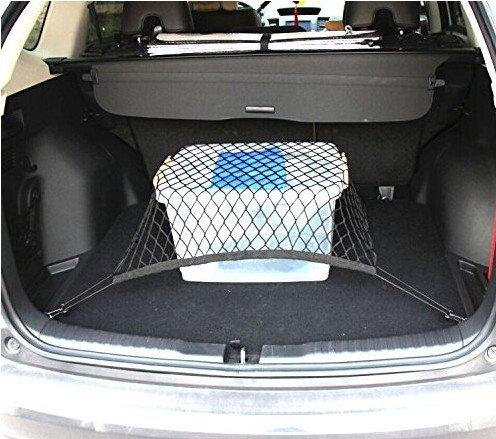 Rete elastica per bagagliaio auto universale in nylon, adatta alla maggior parte dei SUV e berline, per una conservazione eccellente