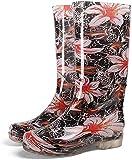 GJJSZ Botas de Lluvia Botas de Lluvia imprimidas de Moda para Mujer con Botas Resistentes al Desgaste Antideslizantes Zapatos de jardín Impermeables Botas (Color : Begonia Flower, Size : 36 EU)
