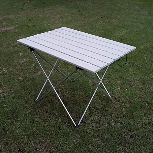 WTT Klaptafel, draagbaar, voor buiten, inklapbaar, van aluminium, ultralicht, campingtafel, picknick, kantoor, inklapbaar