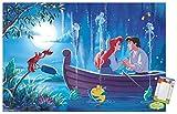 Trends International Disney The Little Mermaid - Ariel - Kiss The Girl Wall Poster, 22.375' x 34', Poster & Mount Bundle