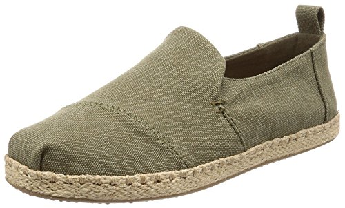 Alpercatas Toms Deconstructed Rope Olive Washed Canvas 45