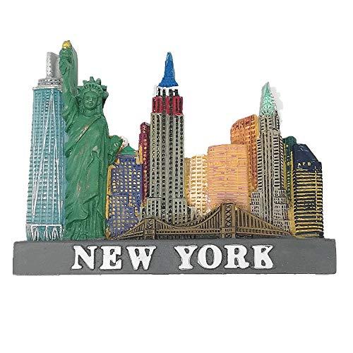 Imán 3D para nevera de Nueva York, Estados Unidos, regalo de recuerdo para decoración del hogar y la cocina, adhesivo magnético para nevera de Nueva York