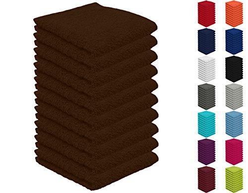 10er Pack Seiftücher, Seiflappen in vielen Farben 30x30 cm Schokobraun 100% Baumwolle