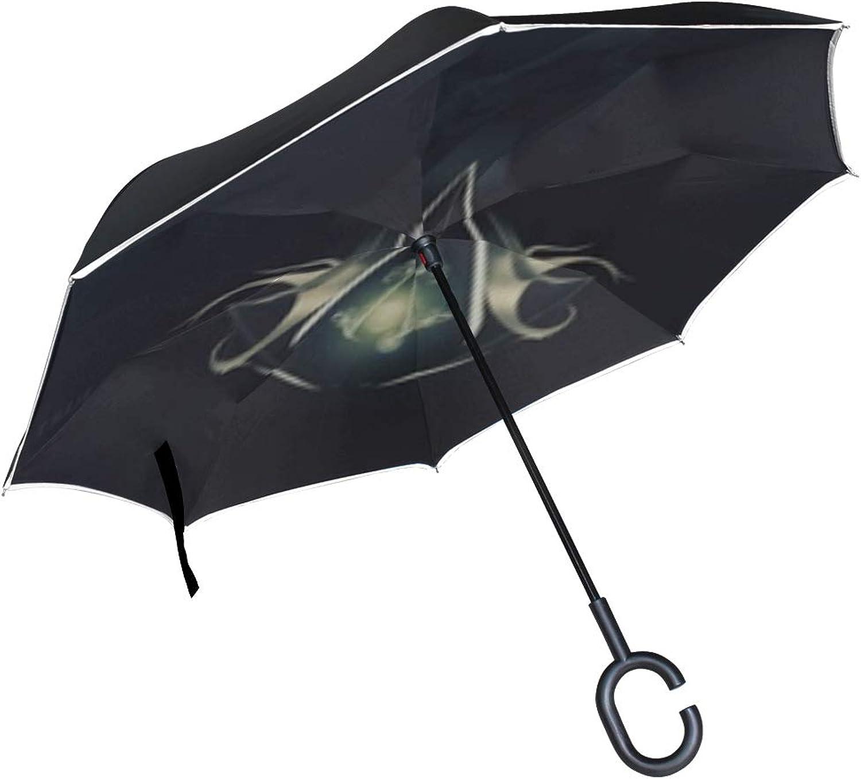 Assassins Creed Desmond Miles Assassins Symbol Background Light Quote Ingreened Umbrella Large Double Layer Outdoor Rain Sun Car Reversible Umbrella
