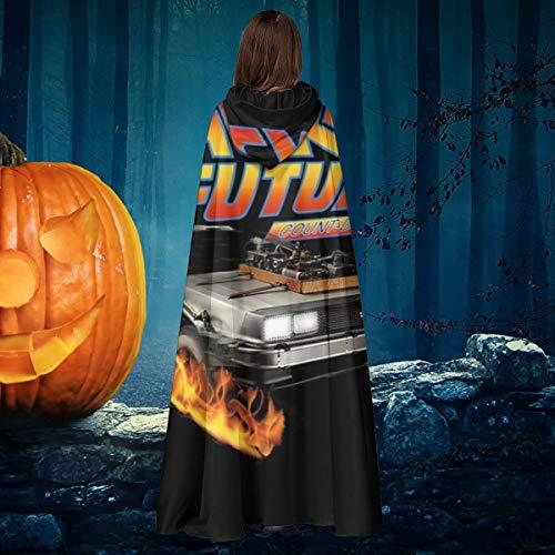 NULLYTG Delorean Count Back To The Future - Disfraz de caballero de bruja con capucha para disfraz de vampiros