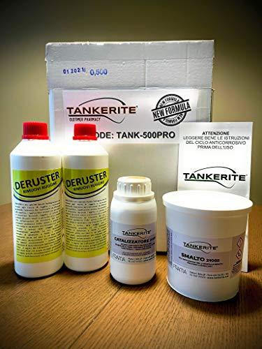 TANK-500PRO TANKERITE trattamento bonifica serbatoi KIT MEDIO 500 gr. per serbatoi fino a 20/25 lt.