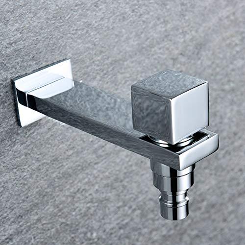 1/2 Wassereinlass Quadrat Kupfer Waschmaschine Wasserhahn schnell Mundwasser kleiner Wasserhahn Dual-Use-Kaltwasserhahn Outdoor-Spüle