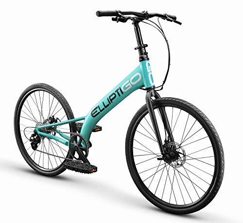 ElliptiGO RSUB Road Performance Outdoor Stand Up Bike and Best Hybrid Indoor Exercise Trainer, Aqua