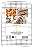 Joytata Cooling Rack 11.5' x 16.5' 100% 18/8 Stainless Steel Cross Wire Baking Rack Roasting Rack Fits Half Sheet Pan for Cookie Cakes Breads Cooking Grilling-Oven Safe Dishwasher Safe